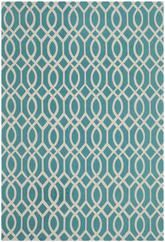 Safavieh Cedar Brook CDR141E Light Teal and Ivory