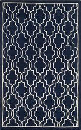 Safavieh Chatham CHT723C Dark Blue and Ivory