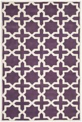 Safavieh Chatham CHT732F Purple and Ivory