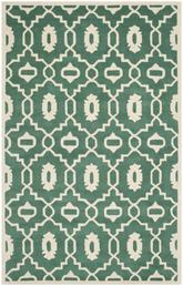 Safavieh Chatham CHT745T Teal and Ivory