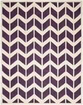 Safavieh Chatham CHT746F Purple and Ivory
