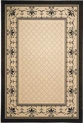 Safavieh Courtyard CY0901-3901 Sand and Black