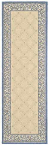 Safavieh Courtyard CY1502-3101 Natural and Blue