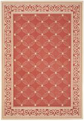 Safavieh Courtyard CY1502-3707 Red and Natural