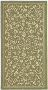 Safavieh Courtyard CY2098-1E06 Olive and Natural