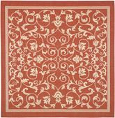 Safavieh Courtyard CY2098-3707 Red and Natural
