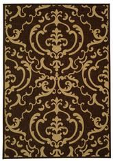 Safavieh Courtyard CY26633409 Chocolate and Natural