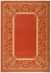 Safavieh Courtyard CY2965-3707 Red and Natural