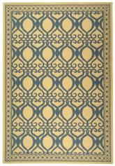Safavieh Courtyard CY3040-3101 Natural and Blue