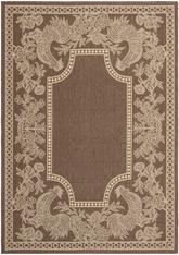 Safavieh Courtyard CY3305-3409 Chocolate and Natural