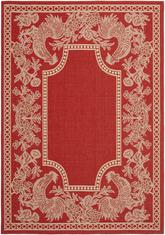 Safavieh Courtyard CY3305-3707 Red and Natural