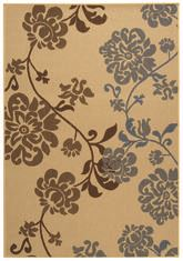 Safavieh Courtyard CY4027B Natural Brown and Blue