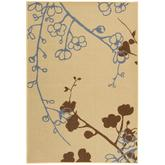 Safavieh Courtyard CY4038B Natural Brown and Blue
