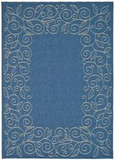 Safavieh Courtyard CY5139C Blue and Ivory