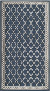 Safavieh Courtyard CY5142-268 Navy and Beige