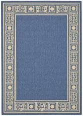 Safavieh Courtyard CY5143C Blue and Ivory