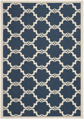 Safavieh Courtyard CY6009-268 Navy and Beige