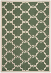 Safavieh Courtyard CY6009-332 Dark Green and Beige