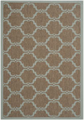 Safavieh Courtyard CY6009337 Brown and Aqua