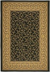 Safavieh Courtyard CY6014-46 Black and Natural