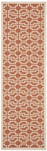 Safavieh Courtyard CY6015-241 Terracotta and Beige