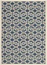 Safavieh Courtyard CY6015-268 Navy and Beige