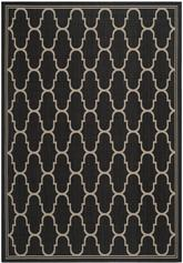 Safavieh Courtyard CY6016266 Black and Beige
