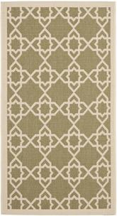 Safavieh Courtyard CY6032-244 Green and Beige