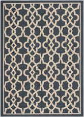 Safavieh Courtyard CY6071-268 Navy and Beige