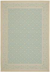 Safavieh Courtyard CY6107-25 Aqua and Cream