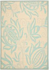 Safavieh Courtyard CY6109-15 Cream and Aqua