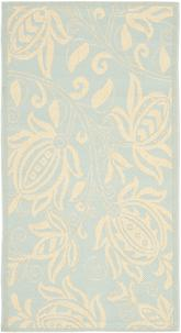 Safavieh Courtyard CY6109-25 Aqua and Cream