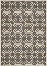 Safavieh Courtyard CY6112-246 Anthracite and Beige