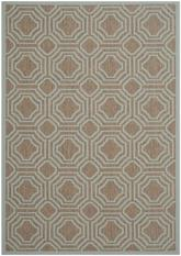 Safavieh Courtyard CY6112-337 Brown and Aqua