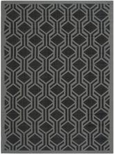 Safavieh Courtyard CY6114-225 Black and Anthracite