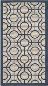 Safavieh Courtyard CY6115-258 Beige and Navy
