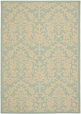 Safavieh Courtyard CY6132-25 Aqua and Cream