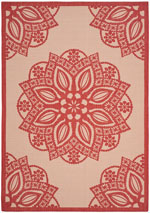 Safavieh Courtyard CY6139238 Beige and Red
