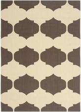 Safavieh Courtyard CY6162-402 Beige and Chocolate
