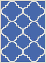 Safavieh Courtyard CY6243243 Blue and Beige