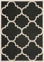 Safavieh Courtyard CY6243266 Black and Beige