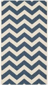 Safavieh Courtyard CY6244-268 Navy and Beige