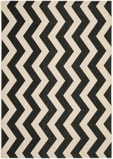 Safavieh Courtyard CY6245-256 Black and Beige