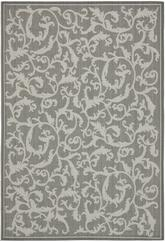 Safavieh Courtyard CY6533-87 Anthracite and Light Grey