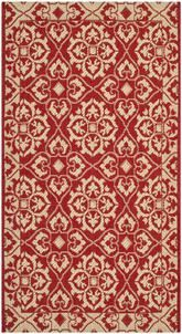 Safavieh Courtyard CY6550-28 Red and Creme