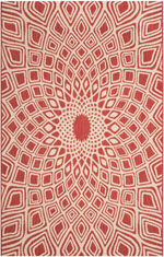Safavieh Courtyard CY661623821 Red and Beige
