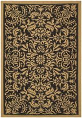 Safavieh Courtyard CY6634-46 Black and Natural
