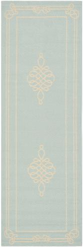 Safavieh Courtyard CY6788-25 Aqua and Cream