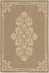 Safavieh Courtyard CY6855-22 Brown and Creme