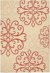 Safavieh Courtyard CY6857-18 Creme and Red
